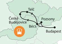 Bécs, Pozsony és Dél-Csehország