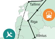 Baltikum, Szentpétervár repülővel