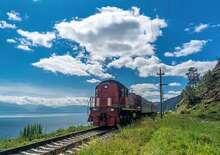 Transzszibériai vasút és a Bajkál-tó